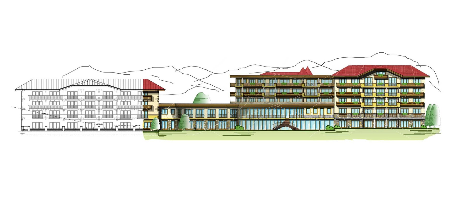 Concept for the extension of Hotel Schwarzenstein Haid & Falkner Design